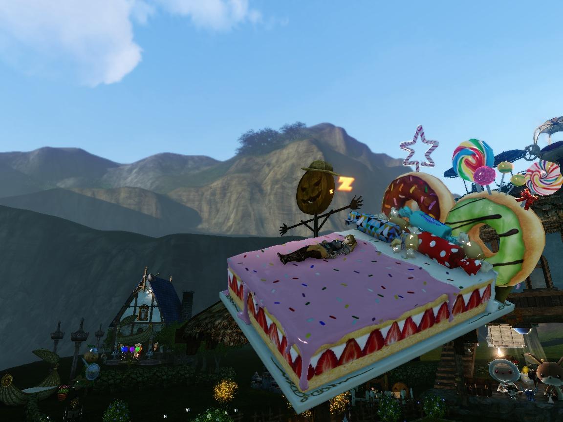 ケーキのベッド1