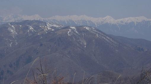 鉢伏山と北アルプス