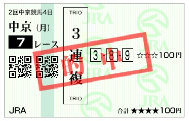 【的中馬券】170319中京7R(三連複 万馬券 的中)