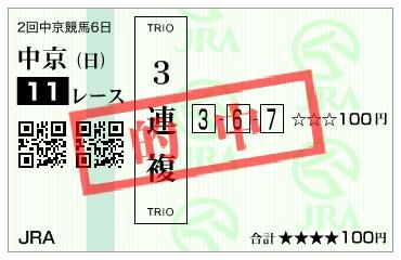 【的中馬券】170326中京11R(三連複 万馬券 的中)
