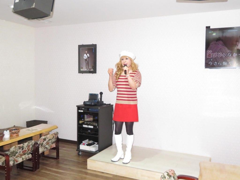 白ベレー赤ボーダー赤ミニカラオケ(7)