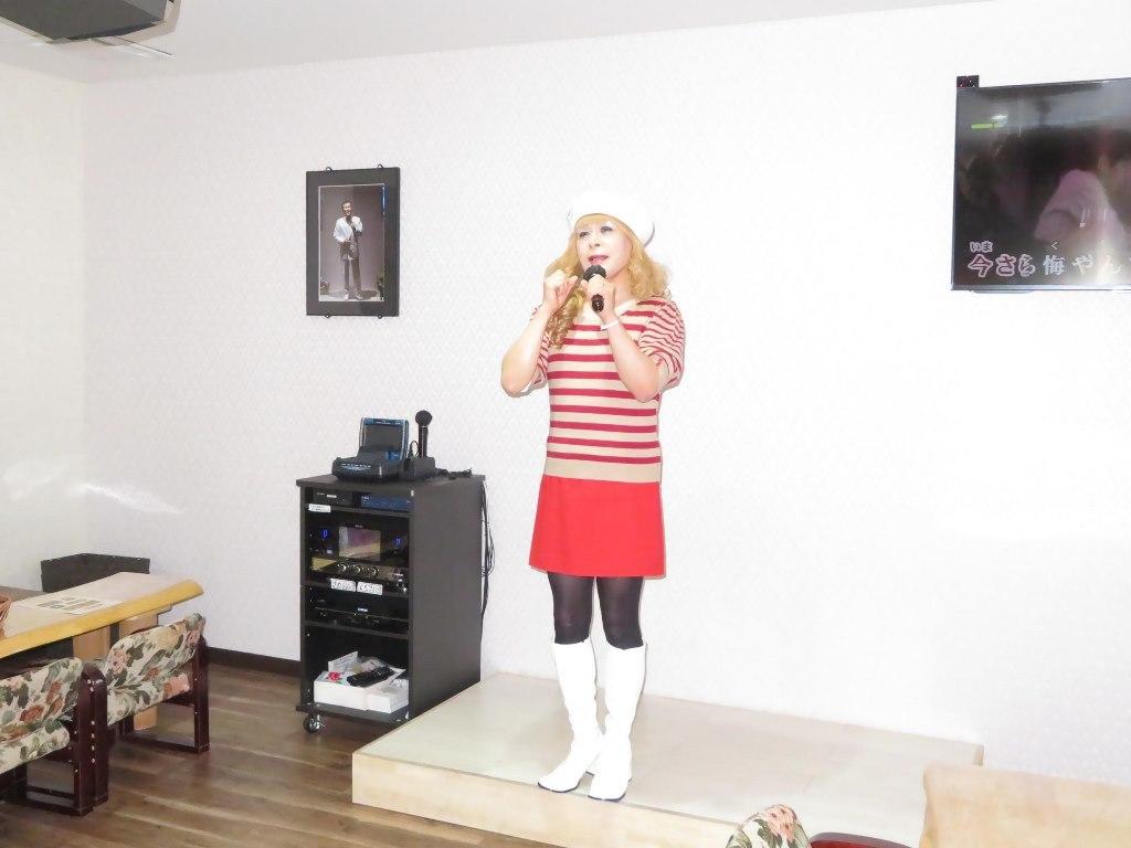白ベレー赤ボーダー赤ミニカラオケ(8)
