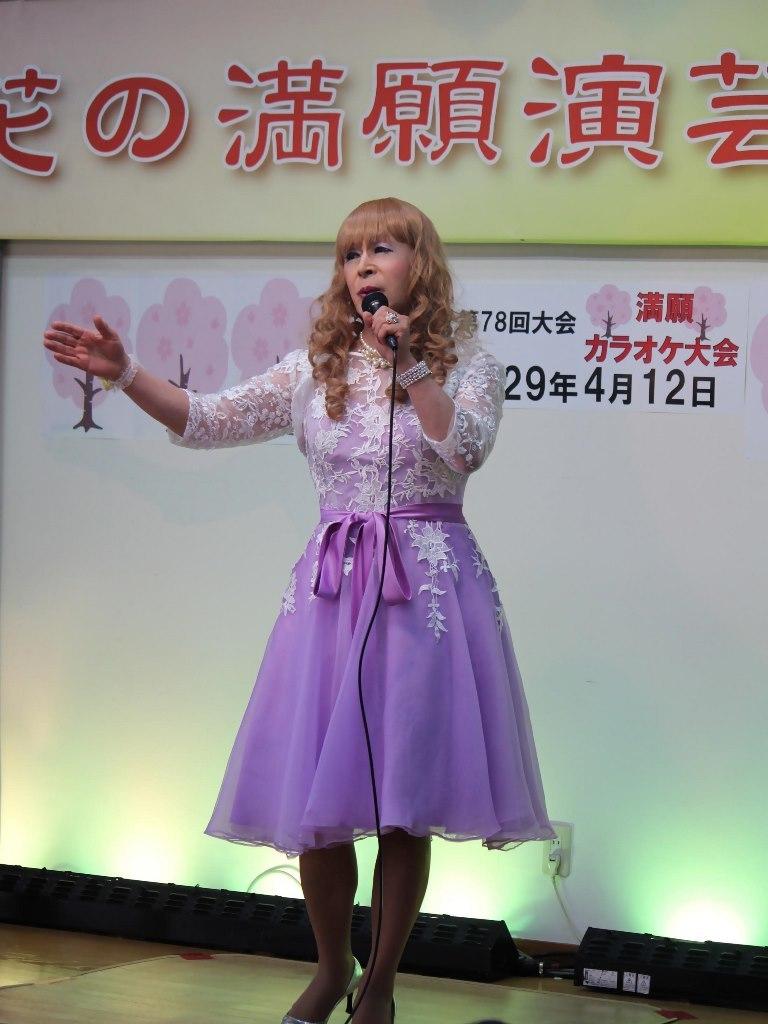 紫ショートドレス舞台(3)