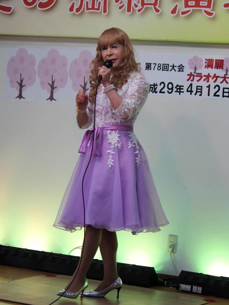 紫ショートドレス舞台(4)