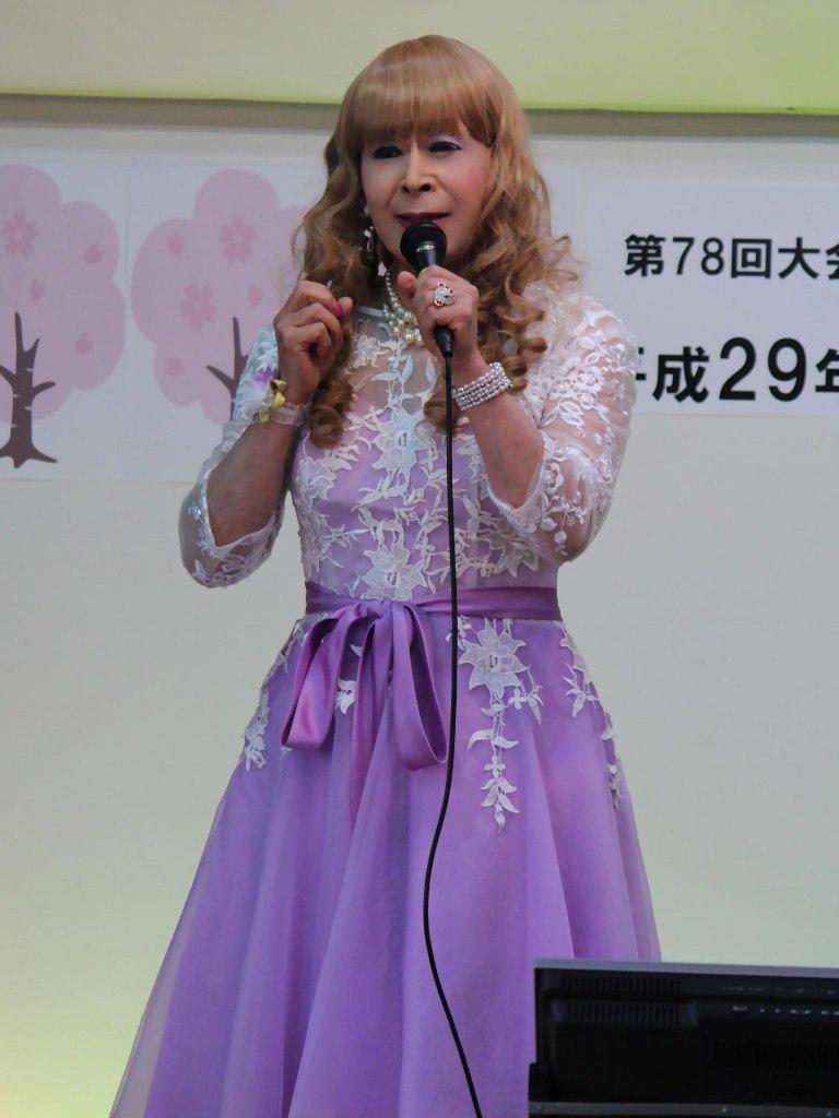紫ショートドレス舞台(6)