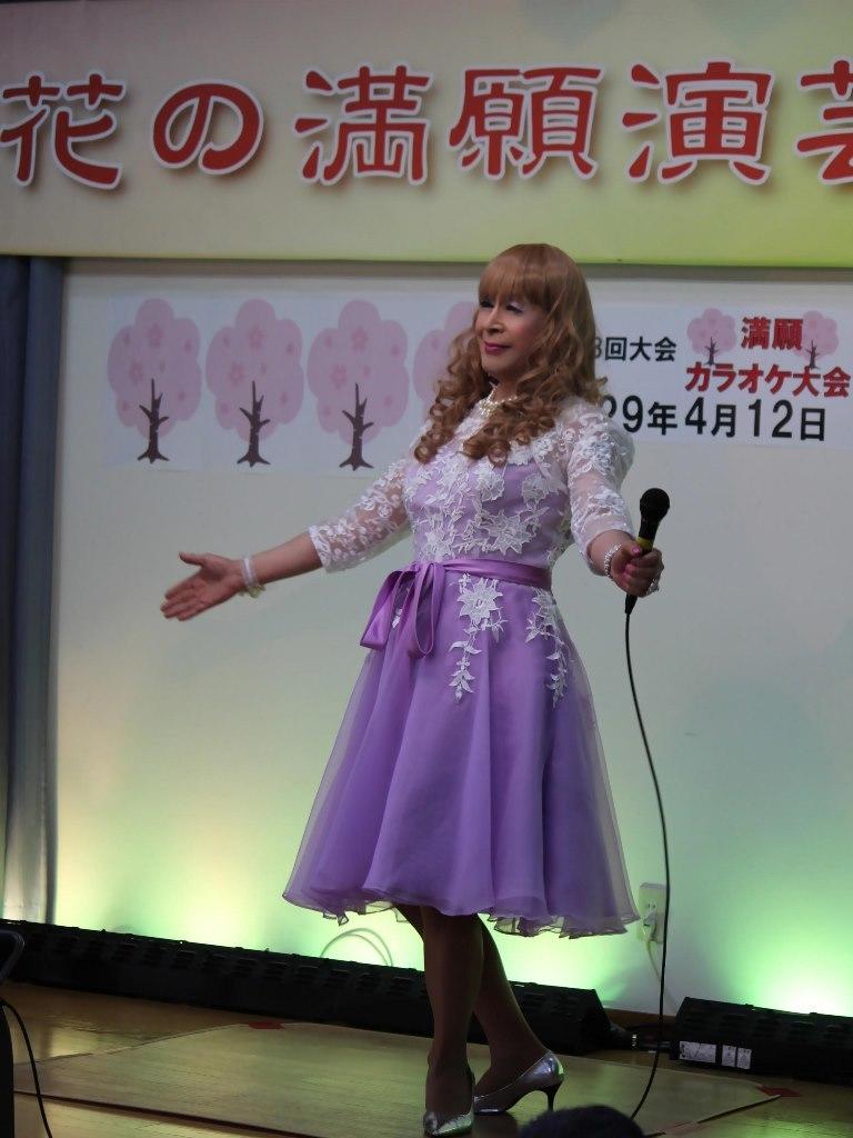 紫ショートドレス舞台(1)