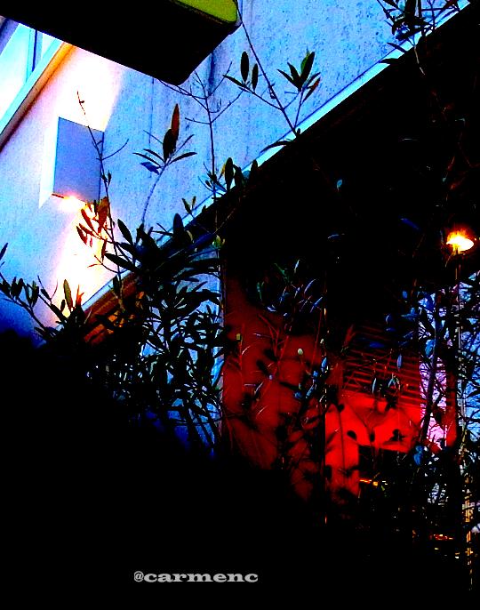 赤と青のアートジラフ