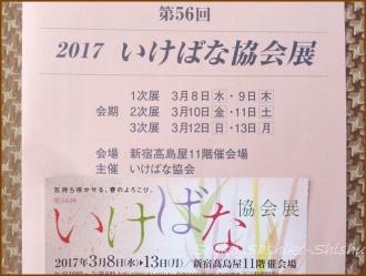 20170318  パンフ     いけばな協会展