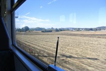 農地の広がる車窓