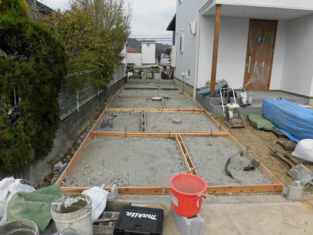 M様邸 駐車場 土間コンクリート型枠