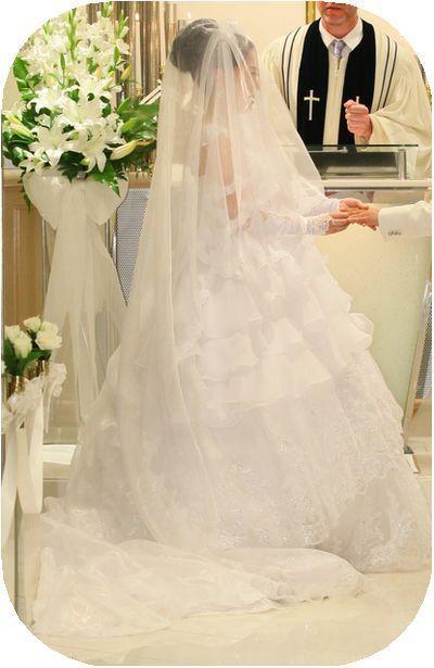 ②ウエディングドレスベール