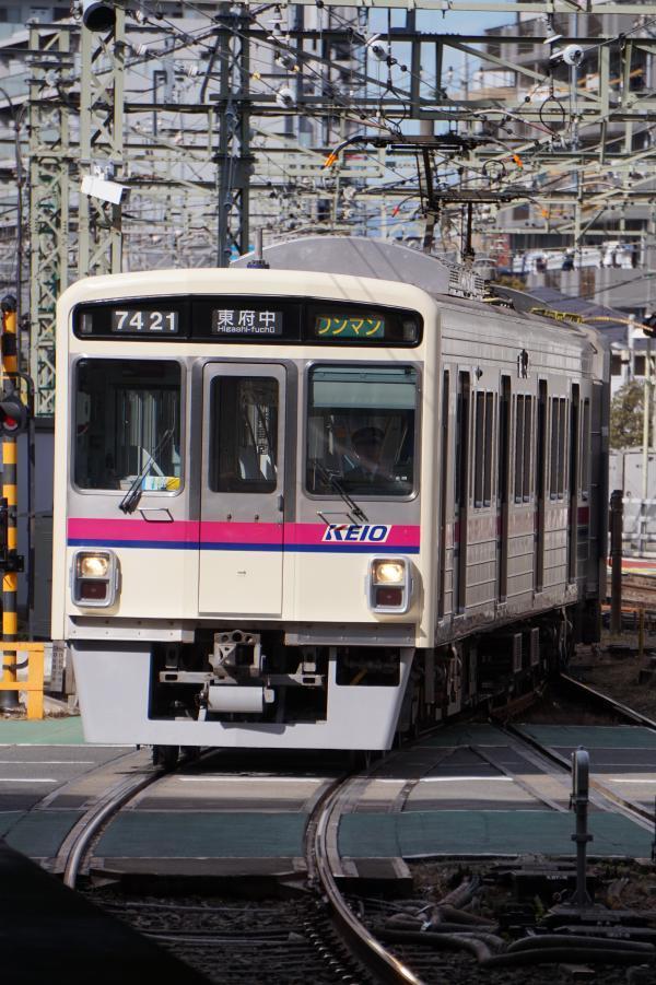 2017-02-10 京王7421F ワンマン東府中行き1
