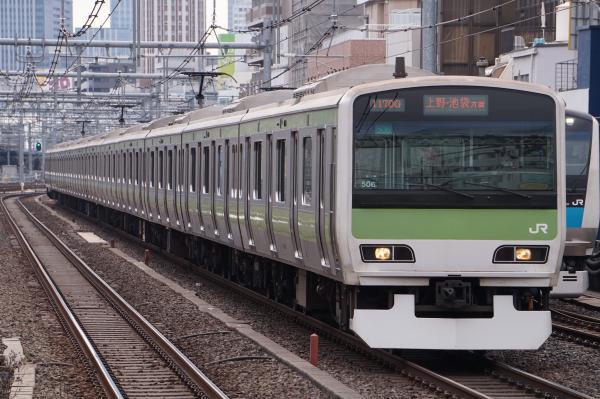 2017-02-18 山手線E231系トウ506編成 上野・池袋方面行き