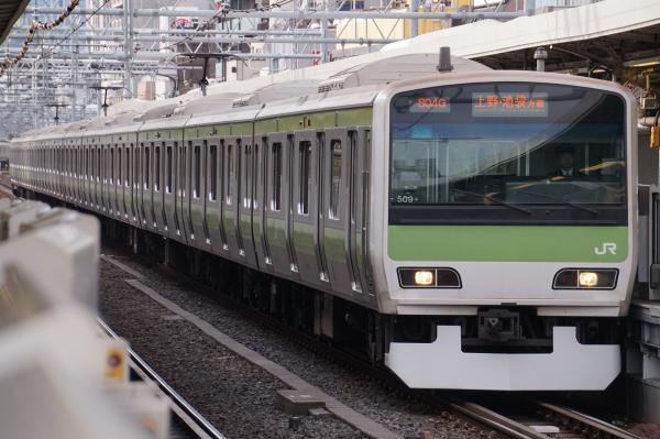 2017-02-18 山手線E231系トウ509編成 上野・池袋方面行き