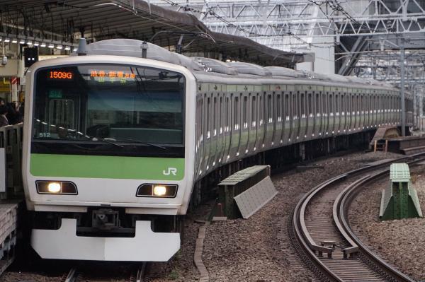 2017-02-18 山手線E231系トウ512編成 渋谷・新宿方面行き