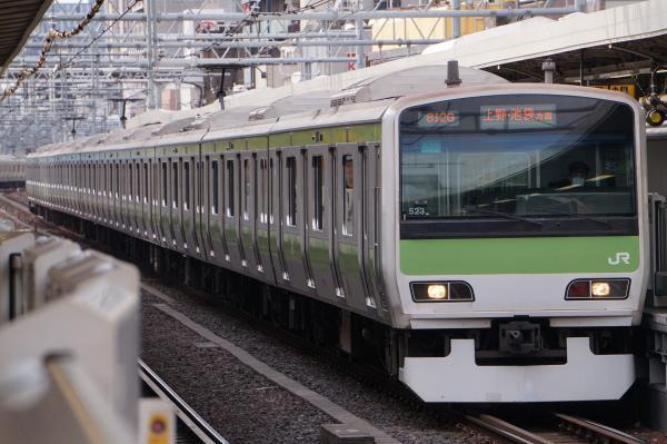 2017-02-18 山手線E231系トウ523編成 上野・池袋方面行き