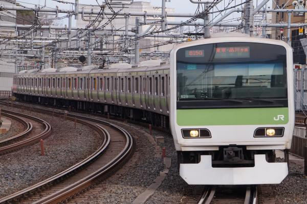 2017-02-18 山手線E231系トウ529編成 東京・品川方面行き