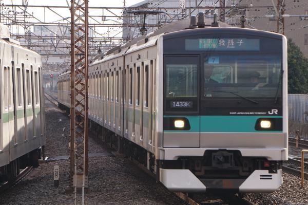 2017-03-08 常磐線E233系マト7編成 各駅停車我孫子行き