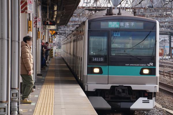 2017-03-08 常磐線E233系マト16編成 各駅停車我孫子行き