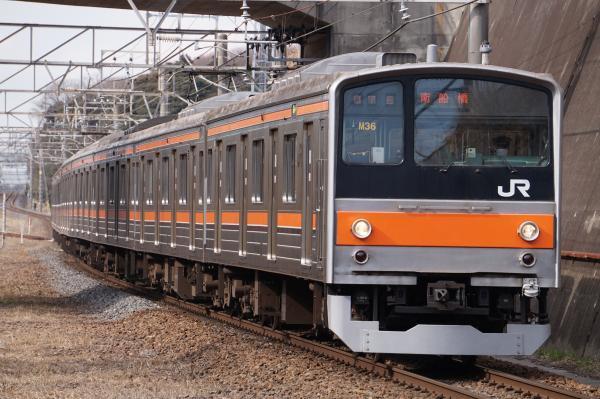 2017-03-08 武蔵野線205系ケヨM36編成 南船橋行き