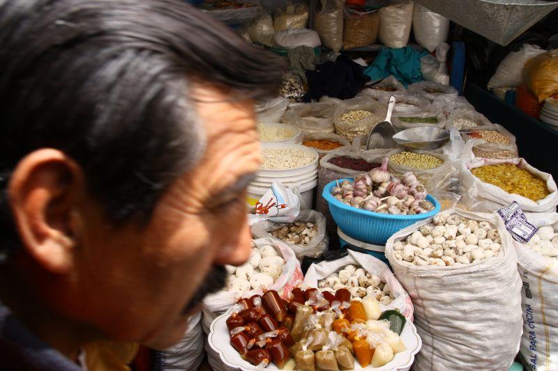 外国市場食事