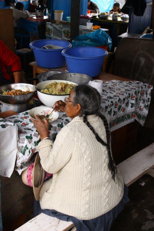 南米市場食事