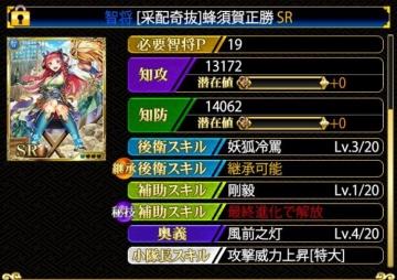 蜂須賀正勝SR19