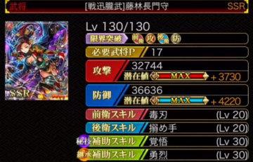 藤林長門守-覚悟LV30