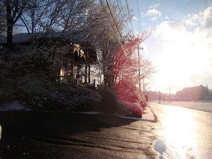 雪の後の☀