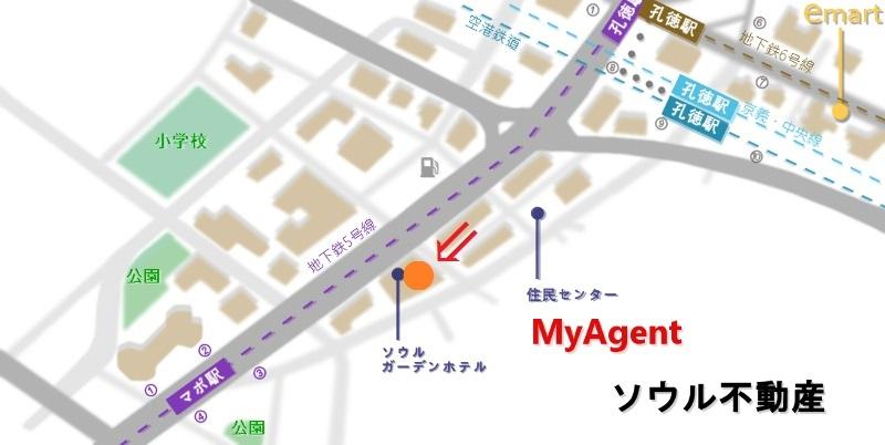 韓国 マポ ソウルガーデンホテル 地図