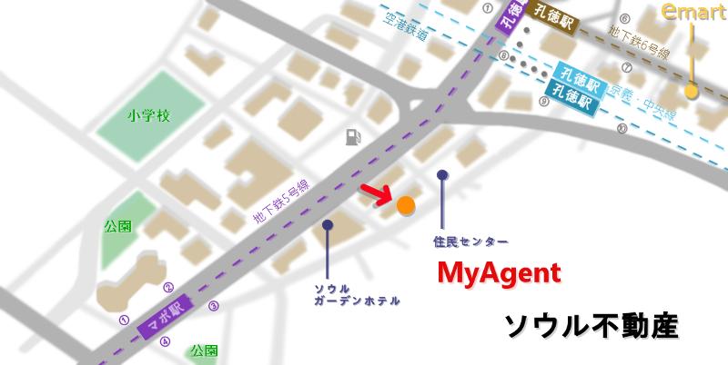 韓国 マポ Miss420(ミスサイゴン) 地図