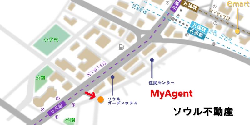 韓国 マポ ナジュ ゴムタン 地図