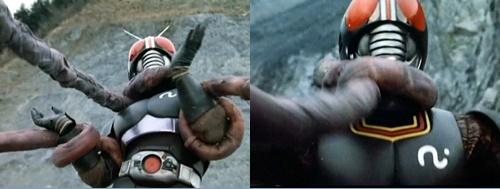 仮面ライダーブラック ヒーロー やられ ピンチ