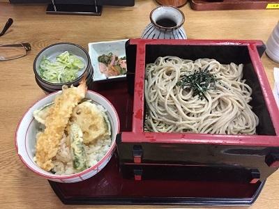 1サガミミニ天丼ランチ400