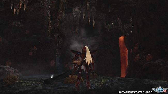 火山洞窟へ到着