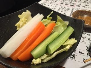 お通しのスティック野菜