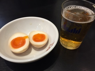 ビール&味付玉子