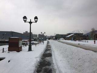 小樽の雪道