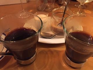 追加注文のコーヒー