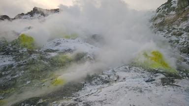 硫黄山噴気孔