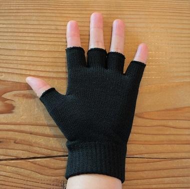 ライブコットン・スパンシルク指先フリー手袋5