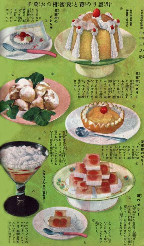 苺と夏蜜柑のお菓子1937may