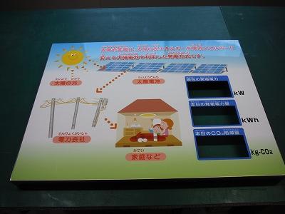 太陽光発電説明出力貼り