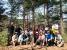 ヒカゲツツジの群落で全員集合