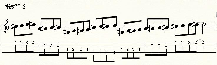 【ウクレレ】指練習2