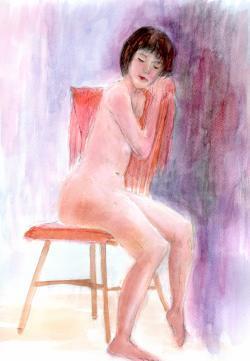 椅子のモデルさん