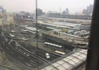 上から見た岡山駅