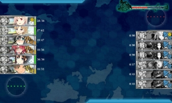 201703 2-5水上反撃部隊任務夜戦終了