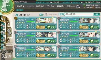 第一艦隊(主力艦隊)全てケッコン完了