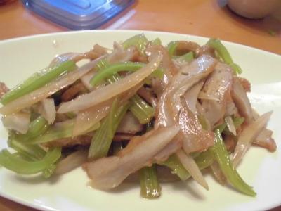 3.6夕食2(葉牛蒡)